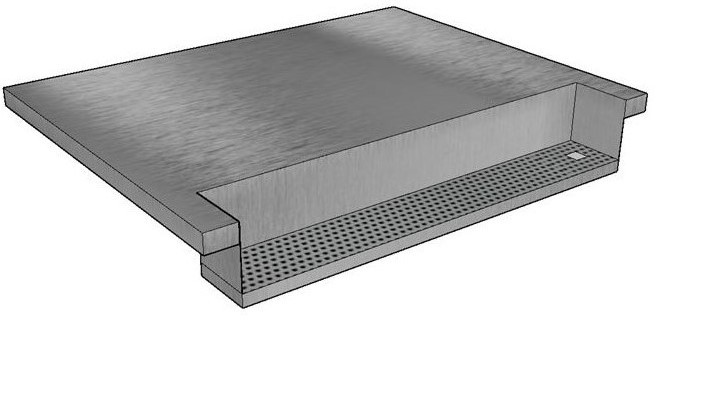 Bordplade med integreret drypbakke_beskaaret venstrestillet