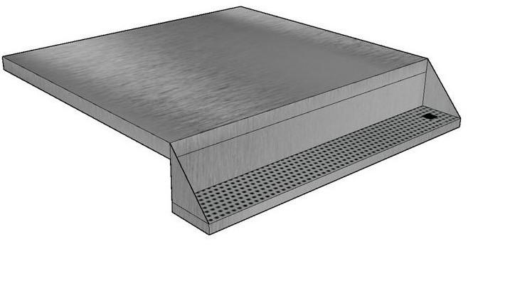 Single bordplade med drypbakke_beskaaret venstrestillet