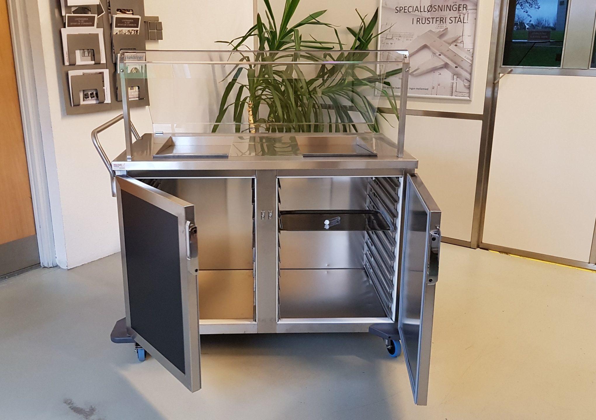 Wilno Rustfri ApS - Serveringsvogn / salgsvogn