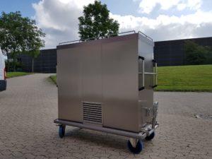 Wilno Rustfri ApS - Madtransportvogn 3-dørs, med både køl og varme